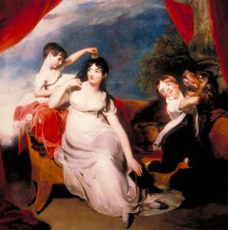 MRS HENRY BARING AND CHILDREN by Lawrence, Sir Thomas